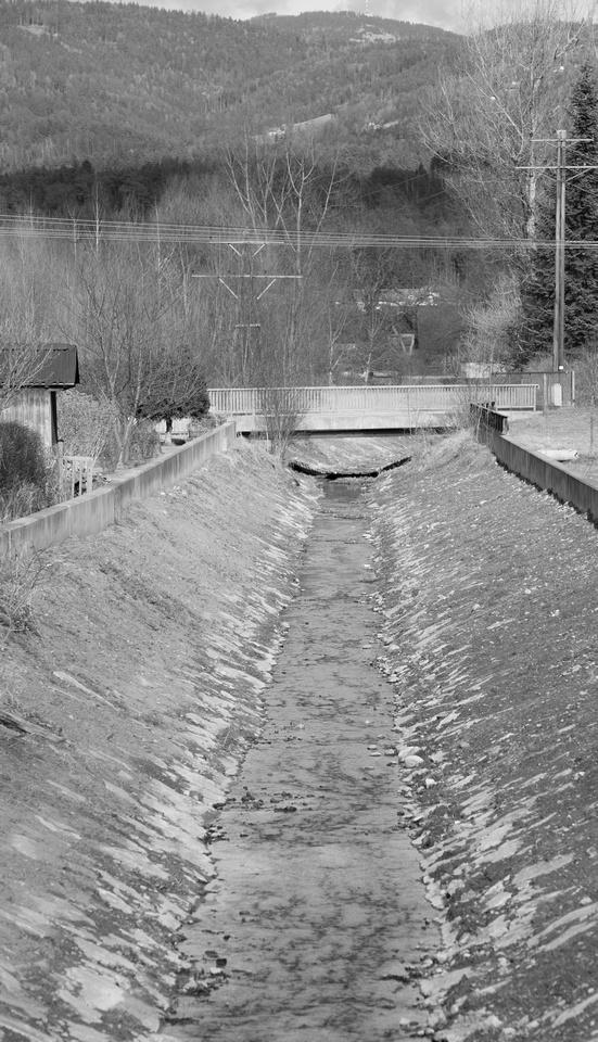 Creek feeding to the Mur river