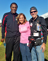 Rafer Johnson with Specialneeds.com photojournalist Freddie B. and his asst. Christina LaScala