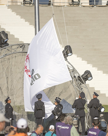 The lowering of the Special Olympics flag (1)